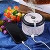 Mini Humidifier Fan Portable Andheld Cooling Misting Fans Water Spray Humidifier Personal Desktop Fan Foldable USB