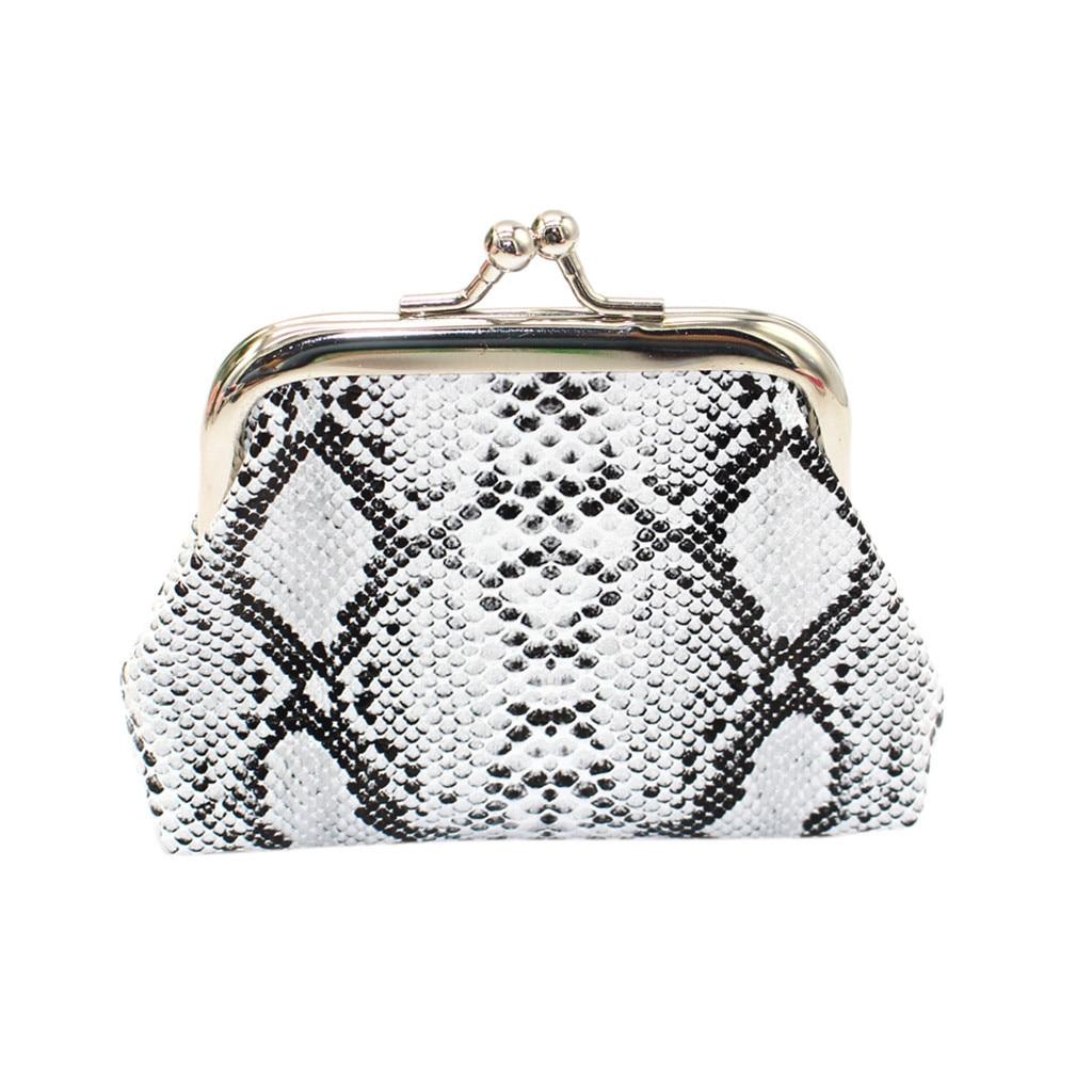 Fashion Coin Wallet Women Retro Printing Snake Fashion Coin Purse 2019 New Card Holder Wallet Small Bag Mini Handbag Pouch