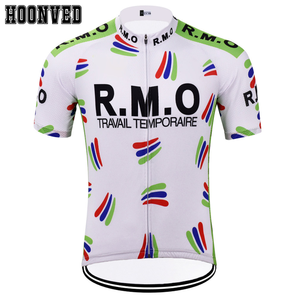 1fc173ea4 The Tour de France racing Man Classic white R.M.O Retro Cycling Jersey  Summer Short sleeves team