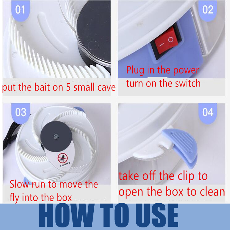 Image 4 - Rotate Insect Traps Fly Trap Electric USB Automatic Fly Catcher Trap Pest Reject Control Catcher Mosquito Flying Anti Killer-in Traps from Home & Garden