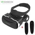 Vr shinecon 4.0 realidad virtual 3d vidrios de la película caja del casco con auriculares para 4-5.5 pulgadas smartphone + juego controlador