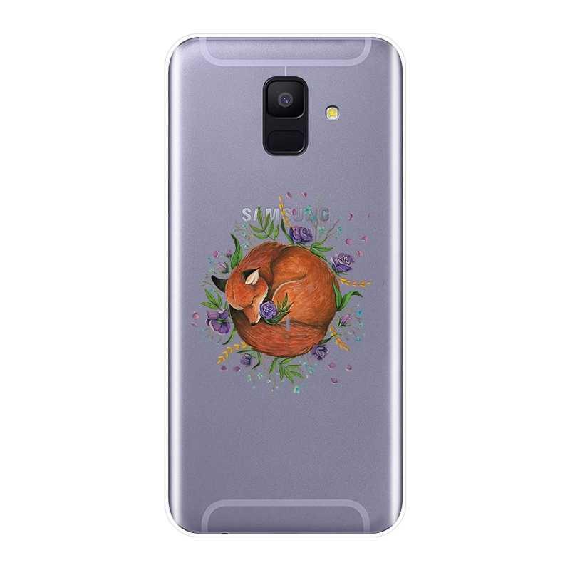 Для samsung Galaxy A6 A8 плюс 2018 силиконовый чехол для телефона Kawaii Фокс мягкая задняя крышка для samsung A3 A5 2016 2017 A6 A7 A8 2018 чехол