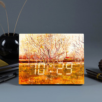 LED Smart Clock New European Bedside Small Alarm Clock Creative LED Clock c