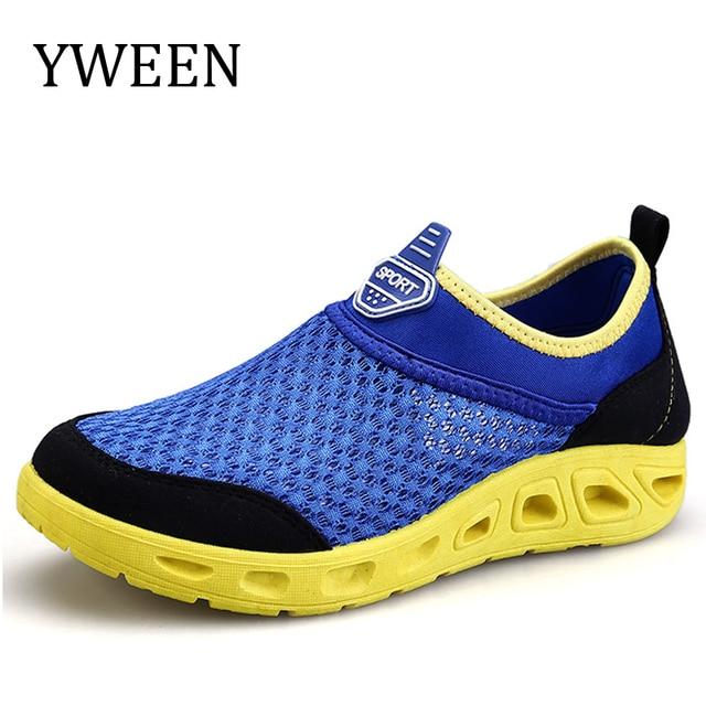 YWEEN 2017 Новых мужская Повседневная Обувь Мужчины Летние Водонепроницаемый Воздуха Сетки Обувь Мужчина Дышащей Обуви