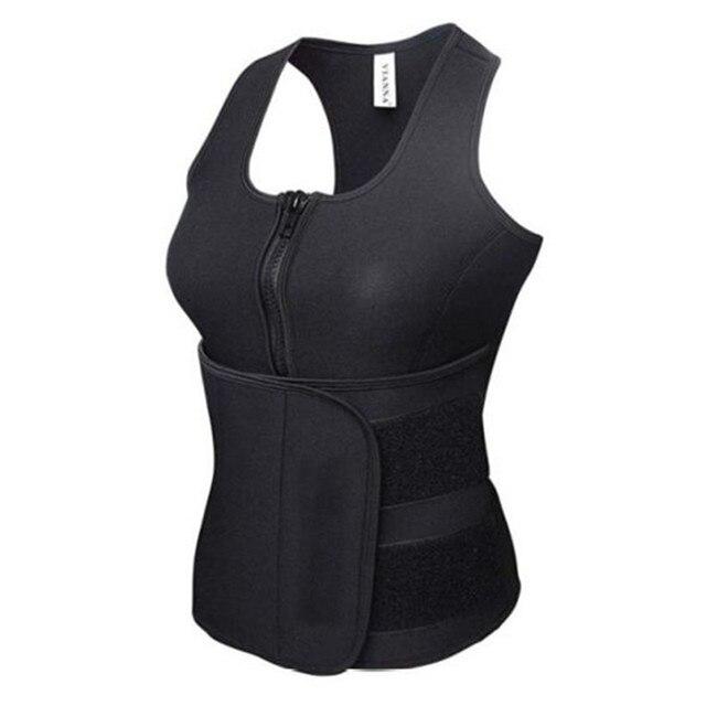 NEW Neoprene Sauna Vest Body Shaper Slimming Waist Trainer Hot Shaper Fashion Workout Shapewear Adjustable Sweat Belt Corset 5