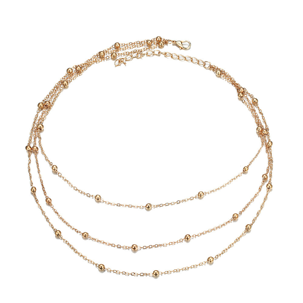 ECODAY 3 Layered Necklace Women Gold Color Chain Chocker Collares Femme Ketting Accessories