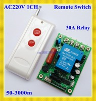 RF 220V 30A 3000WWireless Remote Control Switch System315/433 light/Lamp LED water pump electrical machine ON OF Latched