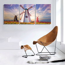 Laeacco Canvas Painting Calligraphy wonderful  Landscape Windmill Artwork Garden Poster and Prints Living Room Nordic Home Decor