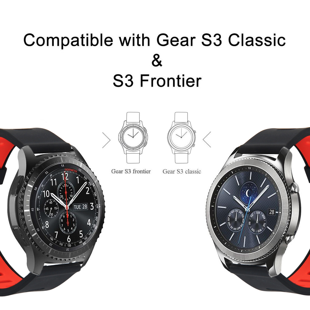 Silicone Sports Band for Samsung Gear S3 Frontier Replacement Watch Strap for Gear S3 Classic Frontier Smart Watch