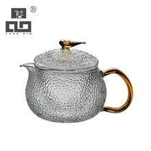 TANGPIN heat-resistant glass teapot boiling kettle flower tea pot glass tea set drinkware 550ml цена и фото