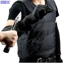 Stab Proof Vest Anti Cut Work Gloves Stabproof Arm Sleeve Outdoor Safety Self Defense Tungsten Steel Iiner Plate Tactical aa shield bullet proof soft panel body armor inserts plate uhmwpe core self defense supply ballistic nij lvl iiia 3a 10x12 pair