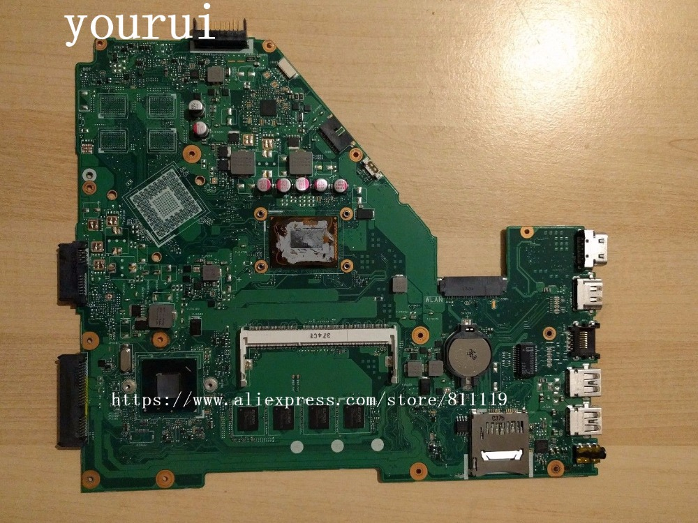 yourui For Motherboard with i5-3337u 4GB RAM For ASUS X550CA X550CC X550C Mainboard REV 2.0 Tested all functions 100%