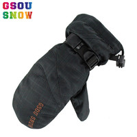 GSOU SNOW Brand Ski Gloves Men Women Snowboard Mitten Waterproof Glove Winter Snow Snowmobile Riding Skiing
