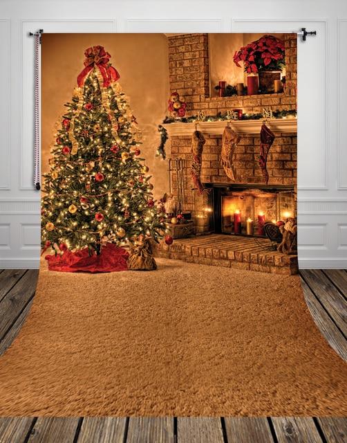 Vertical Hot Sale Art Fabric Photo Studio Backdrops PC Painted Newborn Baby Christmas Tree Backgrounds Xt