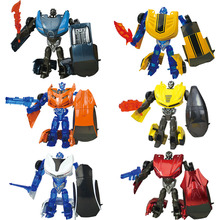 10 Mini 1:43 Transformation Alloy deformation modeller Robot Cars Action Leksak action figur Barn Utbildning Leksaker anime figur Presenter