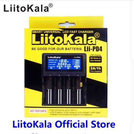 الأصلي Liitokala Lii-PD4 LCD 3.7 فولت 18650 18350 18500 16340 21700 10440 14500 26650 1.2 فولت AA AAA نيمه ليثيوم شاحن بطارية