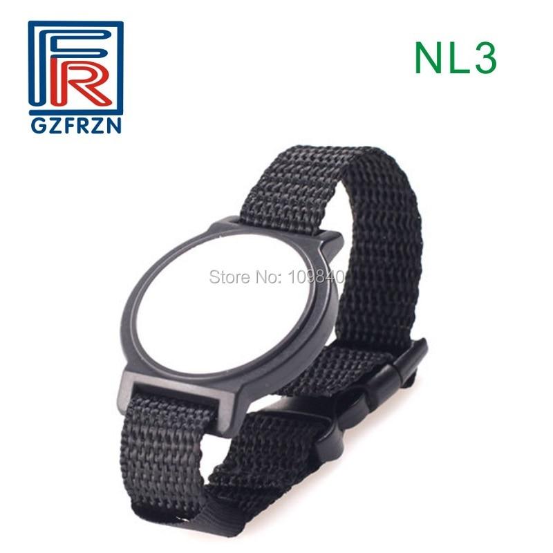 4441f3e4edbc0 1pcs LF rfid nylon wristband Woven 125khz TK4100(EM4100) bracelet for  access control