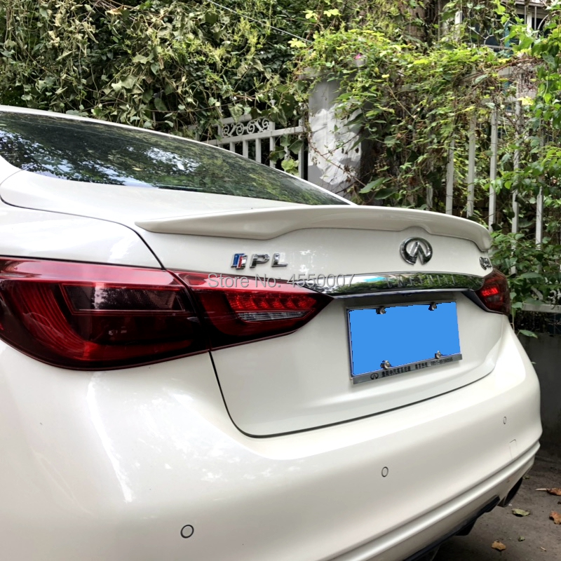 For Infiniti Q50 Q50L Spoiler 2015 2016 ABS Plastic High Quality Rear Trunk Wing Lip Spoiler For Infiniti Q50|Spoilers & Wings| |  - title=