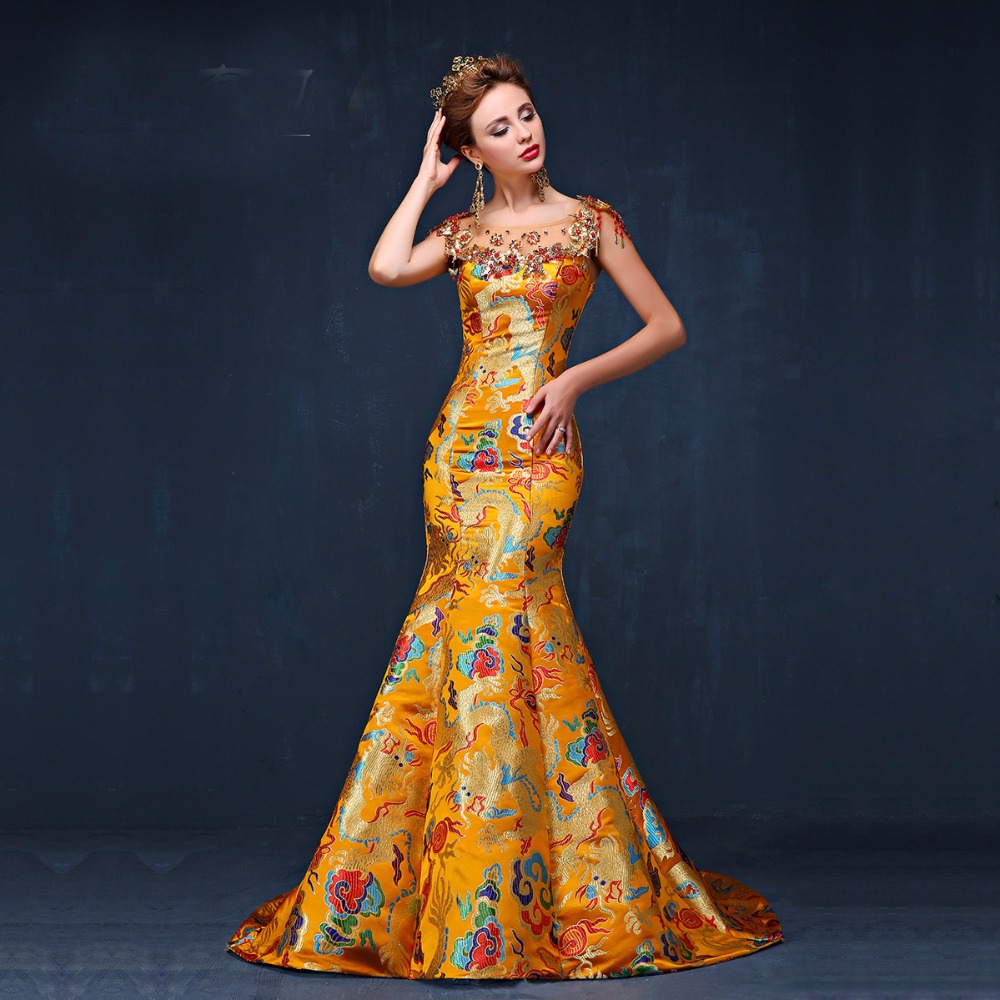 online buy wholesale traditional gown from china. Black Bedroom Furniture Sets. Home Design Ideas
