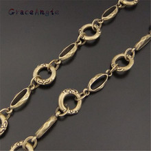 1PCS Antique Bronze Ready To Use Necklace Brass Chain 13*13*3MM