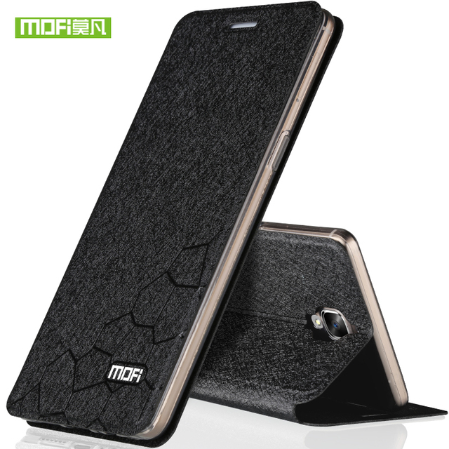 best authentic 04a6b cbadd US $8.19  Original MOFI For Oneplus 3 Leather Case Oneplus 3T Flip Cover  Soft Silicone TPU Holster Metal Board Stand Function A3000/A3010-in Flip ...