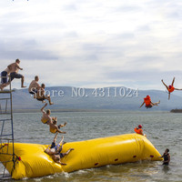 Free Shipping Free Pump 5x2m Inflatable Water Blob Jump Pillow Jumping Air Catapult Bag Jumping Bag Inflatable Water Trampoline