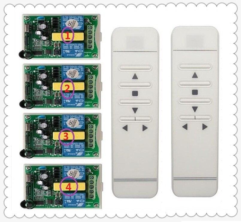 AC220V digitale intelligente RF sistema di interruttore di telecomando senza fili e 4 pz ricevitore per schermo di proiezione/garage door/tende-in Telecomandi da Elettronica di consumo su AliExpress - 11.11_Doppio 11Giorno dei single 1