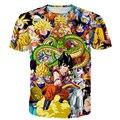 Classic Anime camisetas Hombres Mujeres Personajes de Dragon Ball Super Saiyan Paparazzi 3D t shirt Goku/Vegeta/Freezer impresiones camisetas de las Camisetas