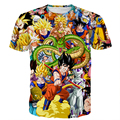Classic Anime t shirts Men Women Dragon Ball Super Saiyan Characters Paparazzi 3D t shirt Goku/Vegeta/Frieza Prints tshirts Tees
