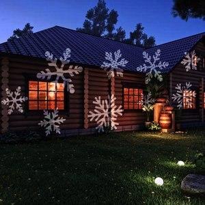 Image 5 - 12 דפוסי חג המולד לייזר מקרן Snowflake LED שלב DJ דיסקו אור מסיבת אורות קישוטים לבית מקורה חיצוני גן