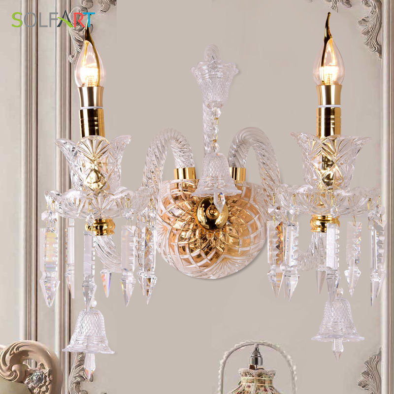 modern wall sconce industrial lamps vintage luminarias abajur light fixtures home lighting glass cryatal wall lamps lustre