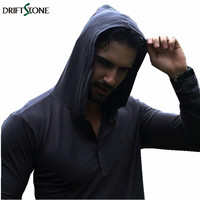 Men S Hooded T Shirt Spring Autumn Long Sleeve Tees Cotton Outside Wear Male Camisa Masculina