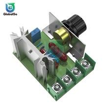 цена на 2000W Speed Controller Adjustable SCR Motor Speed Regulator Governor AC 220V Temperature Voltage Regulator Dimmer Switch Control