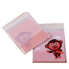 Lovely Monkey Candy Bag Wedding Party Supplies Gift Bag Baked Foods Cookies Package Self-Adhesive Plastic Bag Adornment Bag(China)