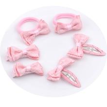 New 6pcs/set Headwear Set Children Accessories lace bow Hair clip Hairpins Girls Princess Headdress Cute Barrettes Hairgrip