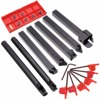 21pcs Set 10mm Shank Tool Holder Boring Bar Carbide Inserts Set With Wrenches For Lathe Turning