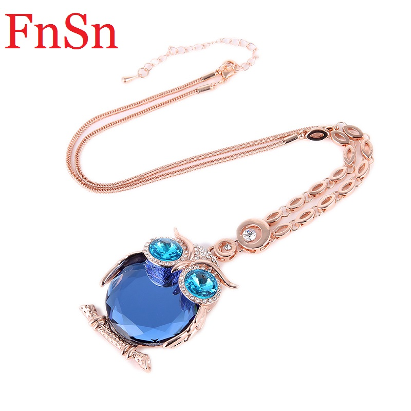Owl Necklaces&Pendants Women Trendy Crystal Charms Chokers Collar - Fashion Jewelry - Photo 3