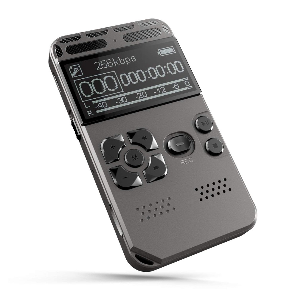 Yescool Portable Professional digital Voice Recorder sound recording voice activated record line-in audio Dictaphone MP3 Player