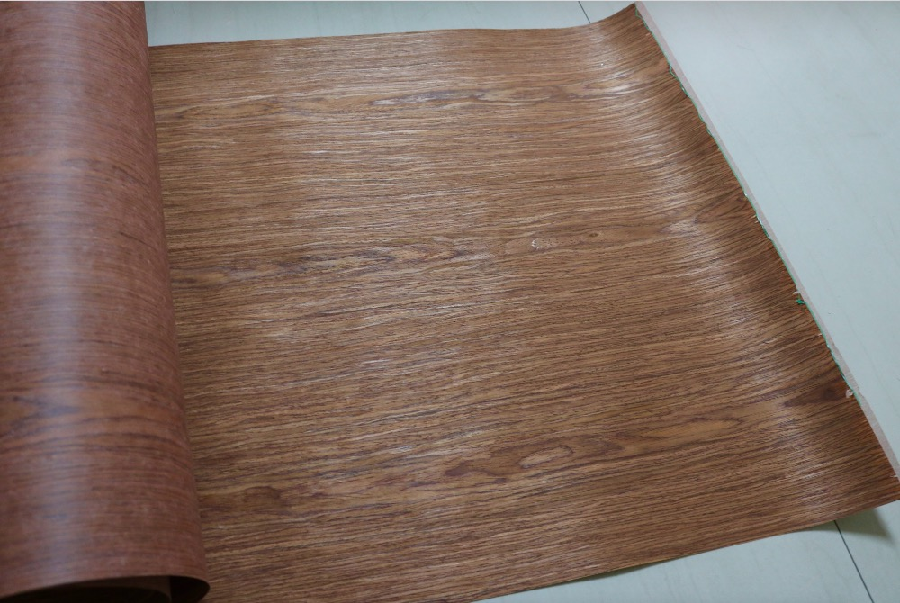 2Pieces/Lot L:2.5Meters  Width:55cm Thickness:0.25mm Technology Wood Veneer Skin Classical Cherry Bark(back Nonwoven Fabric)
