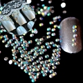 1 lote = 1000 pcs 2mm AB Nail Art Strass Pequeno Cristal Flatback AB 14 Facetas de Resina Strass Rodada contas J22