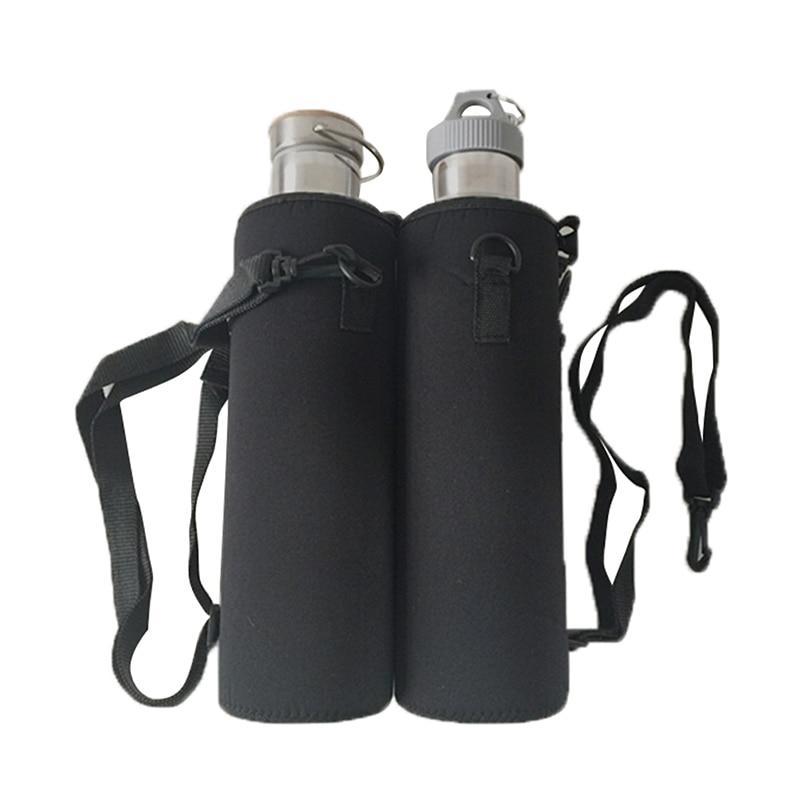 Water Bottle With Strap: Water Bottle Cover Bag Pouch W/Strap Neoprene Water Bottle