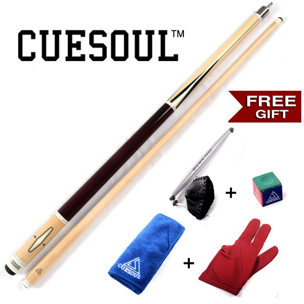 CUESOUL Free Postage 21OZ Pool Cue Stick With Free Gift!!! Free Cue Towel+Billiard Gloves+Chalk Pen+Billiard ChalkCUESOUL Free Postage 21OZ Pool Cue Stick With Free Gift!!! Free Cue Towel+Billiard Gloves+Chalk Pen+Billiard Chalk