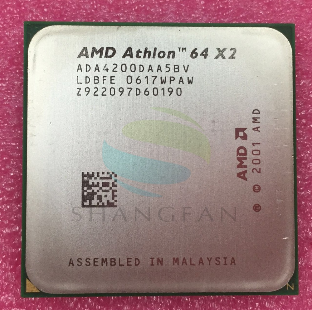 AMD Athlon X2 4200 + מעבד מעבד כפול ליבה כפולה של 2.2GHz X2 4200 ADA4200DAA5BV ADA4200DAA5CD 89W Socket 939pin Desktop CPU