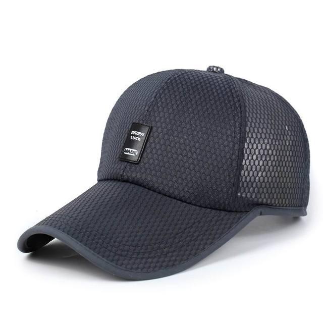 Moda mesh traspirante berretto da baseball del cappello cappelli di golf  maschile run tempo libero cappello 0711c5553065