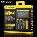 18650 Carregador de Bateria Nitecore D4 com Display LCD DiGi Universal Usb para banco de potência Da Bateria 18650 18490 18350 17670 17500 16340