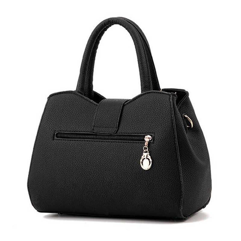 Famous Brand Women Bag Top-Handle Bags 2019 Fashion Women Messenger Bags Handbag Set PU Leather totes Bag