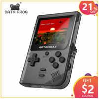 DATEN FROSCH Retromax 8 Bit Mini Handheld Spielkonsole Eingebaute 181 Spiele 3 zoll LCD Video Spiel Player Kinder Geschenk
