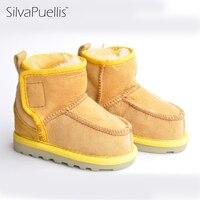 SilvaPuellis Children Boots Winter Girls Snow Boots Wool Children's Shoes Casual Children's Boots Students Warm Sheepskin Boots