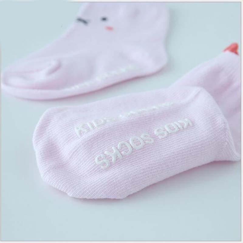 Amazing Cotton Baby Socks Newborn Floor Socks for Baby Girl Boy S M Size Hot Toddler Asymmetry Anti-slip Socks
