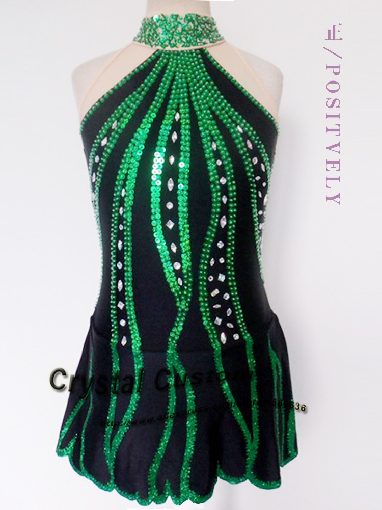 Popular Green Figure Skating Dress-Buy Cheap Green Figure Skating ...